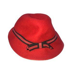 Accessories - Vintage Virgin wool felt red hat